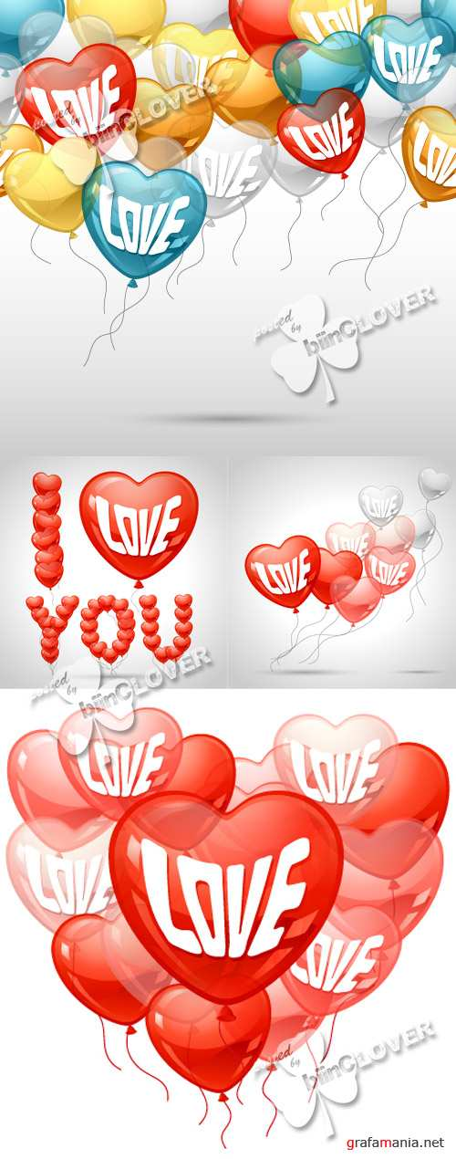 Romantic background with balloons 0354