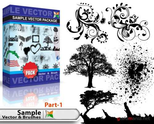 Sample Vector and Brushes Pack #1