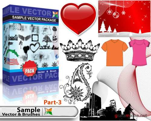 Sample Vector and Brushes Pack #3