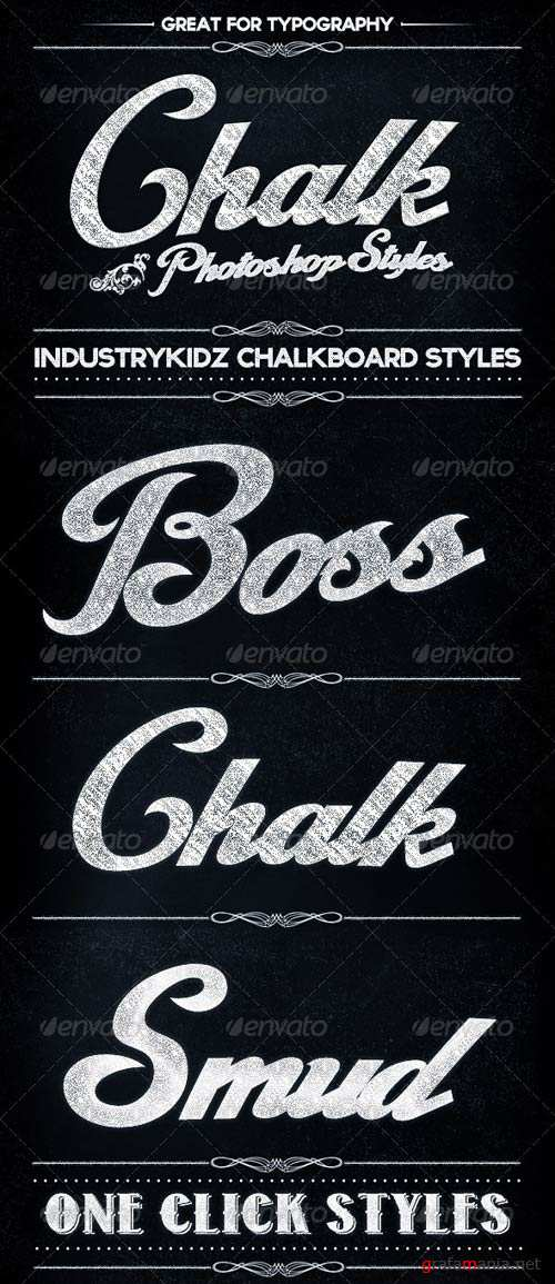 GraphicRiver Chalkboard Photoshop Layer Styles
