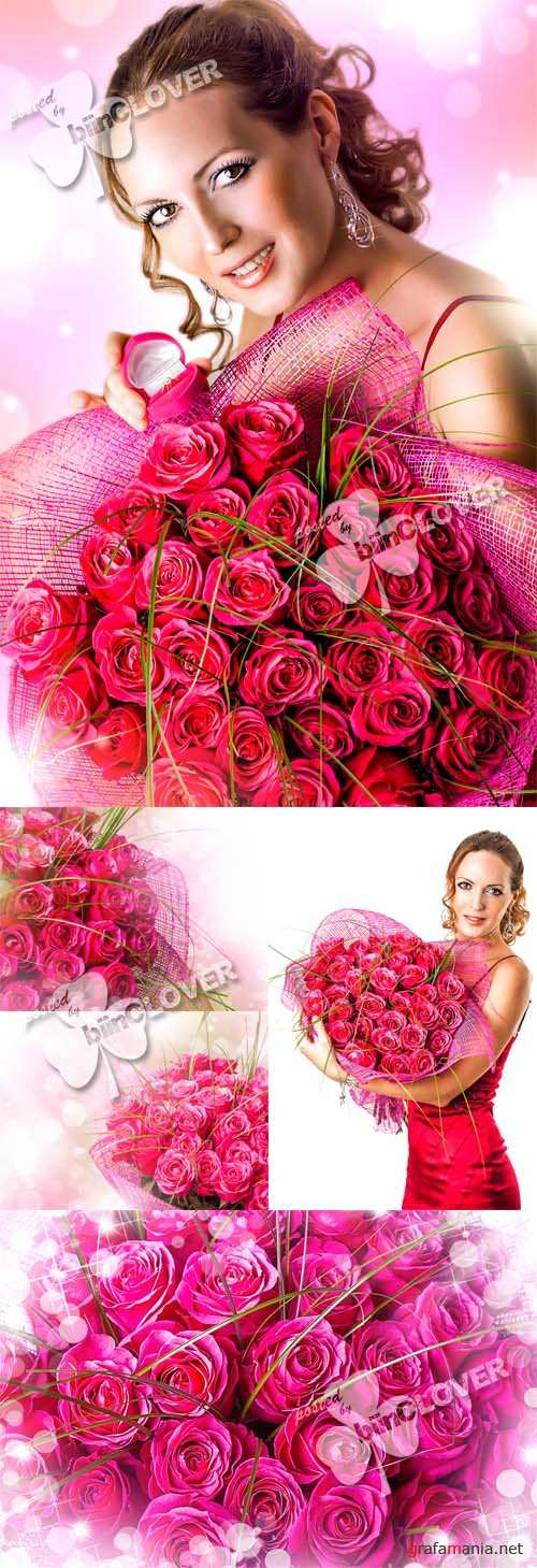 Valentine's Day bouquet of pink roses 0360