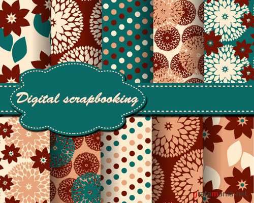 Plaid Cloth Patterns Vector Backgrounds