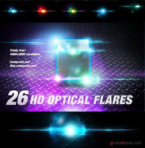 31 HD Lens Optical Flares Backgrounds