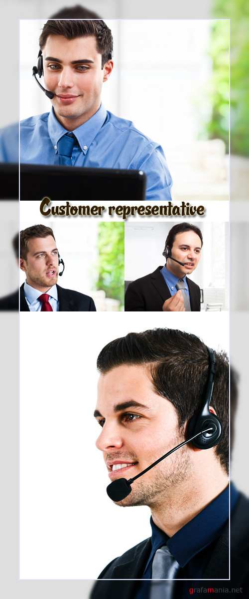 Stock Photo: Customer representative