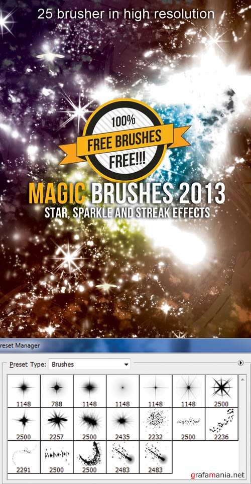 PS Hi-Res Brushes - Magic Sparkle and Streak Effects