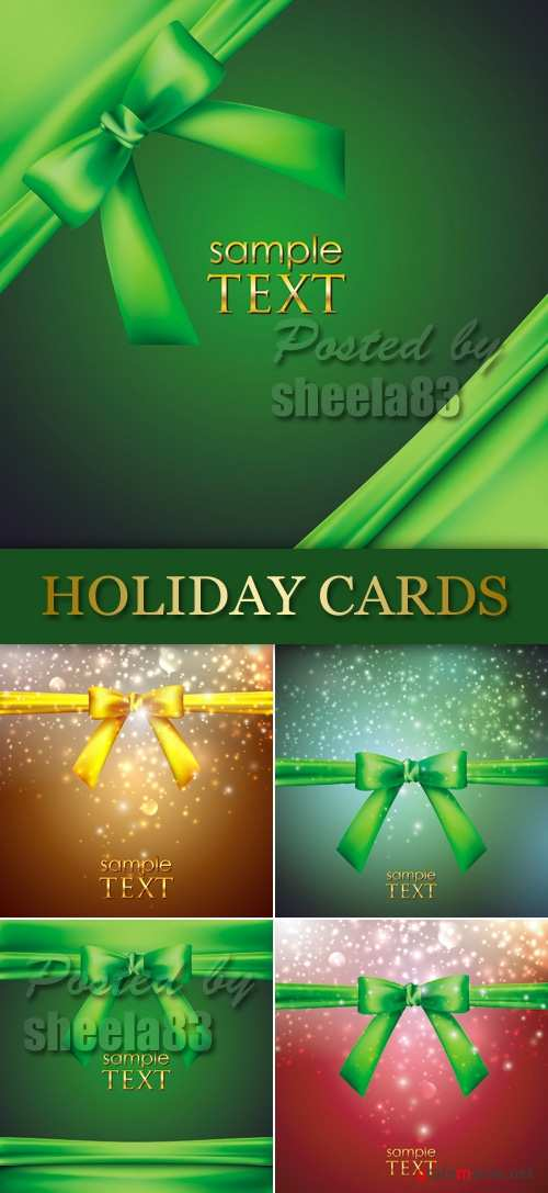 Holiday Backgrounds with Bow Vector