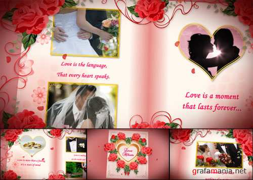 Wedding Album Red Roses - After Effects Project (VideoHive)