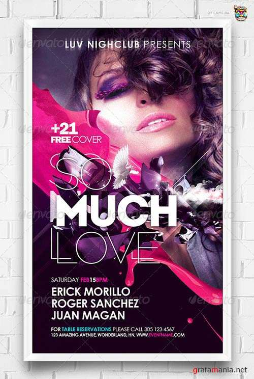 GraphicRiver So Much Love Flyer Template