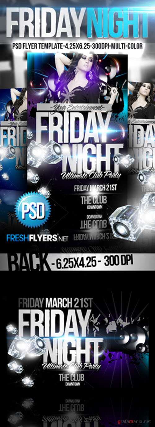 Friday Nights Party Flyer/Poster PSD Template