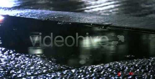 Night Raining Sidewalk - HD Loop - After Effects Motion Graphics (Videohive)