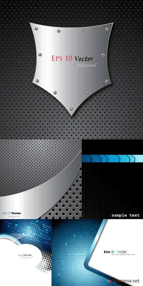 Metal and Techno Vector Backgrounds #3