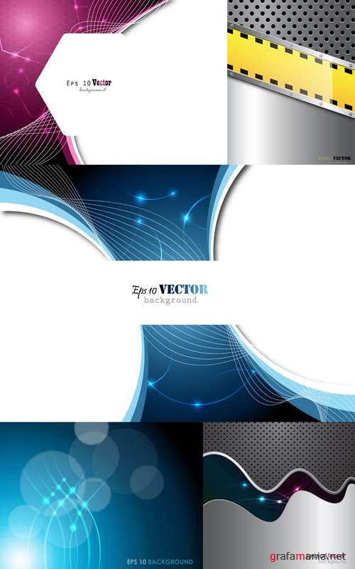 Metal and Techno Vector Backgrounds #8