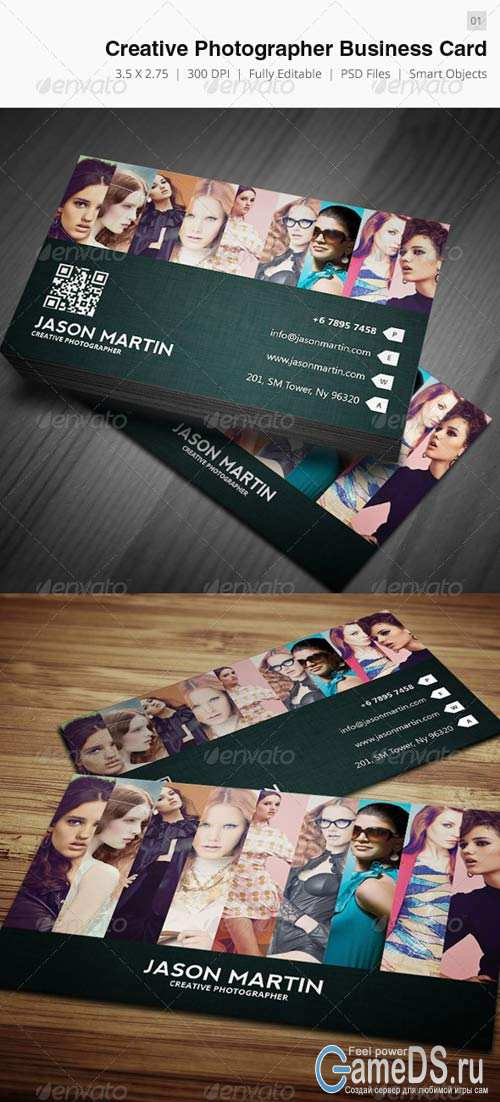 GraphicRiver Creative Photographer Business Card - 01