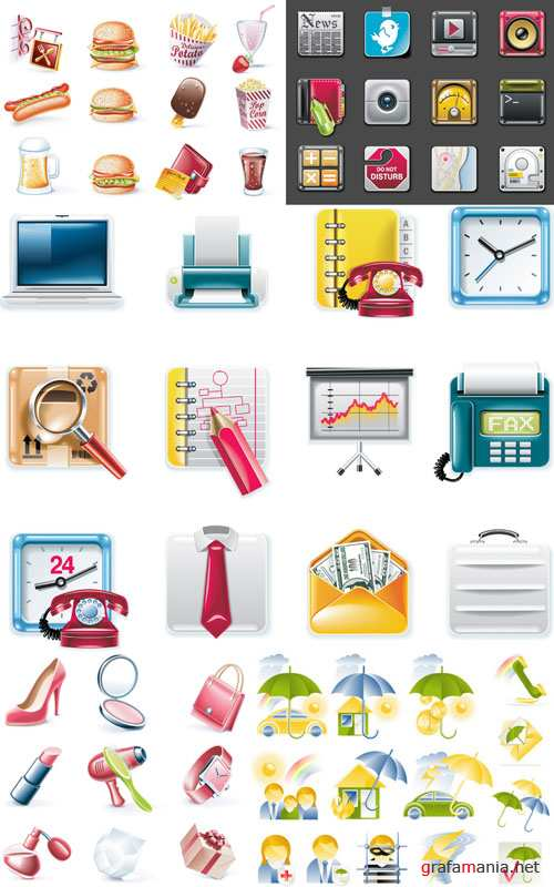 Icons & Objects for Vector Design #23
