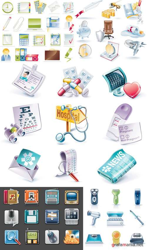 Icons & Objects for Vector Design #24