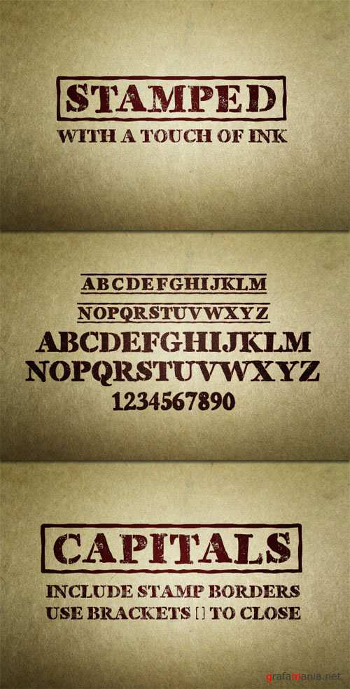 WeGraphics - Stamped – Font Face