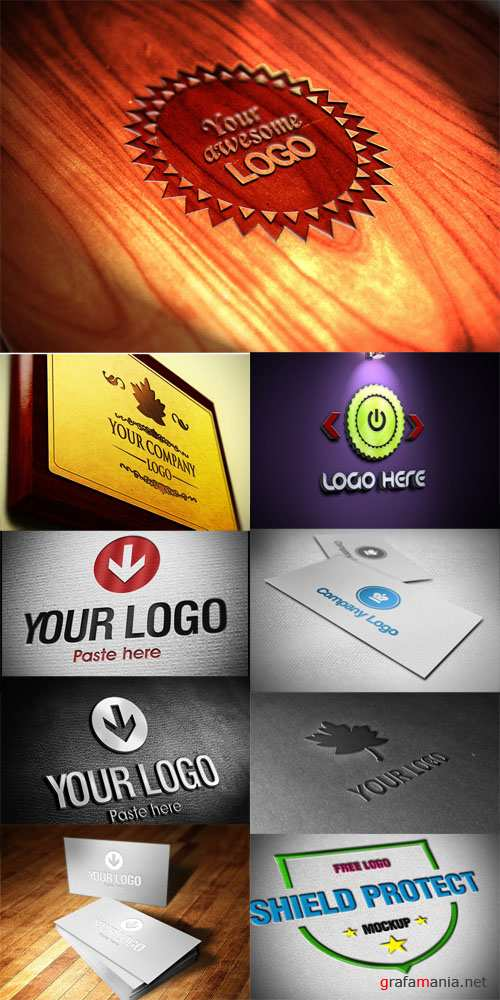 9 Logo and Business Cards Mock-up Templates