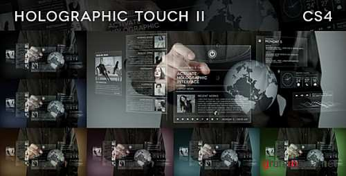Holographic Touch II - After Effects Projects (Videohive)