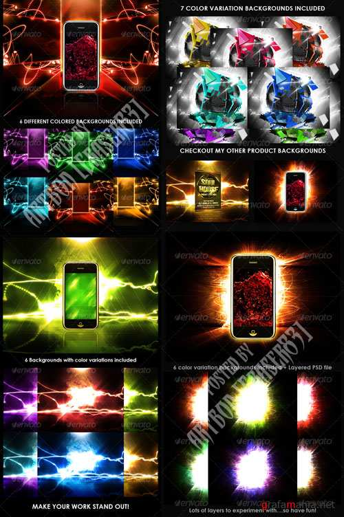 GraphicRiver Product Display Backgrounds Collection