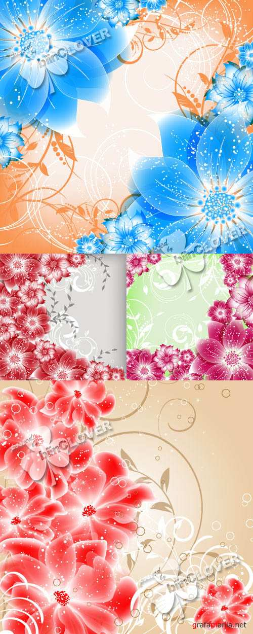 Abstract background with flowers 0385