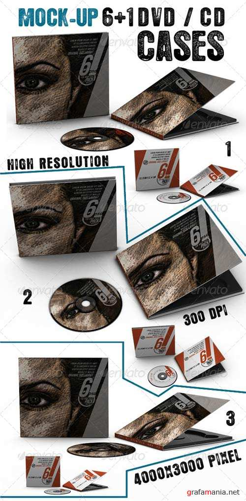 GraphicRiver Dvd - Cd Cases Mock Up