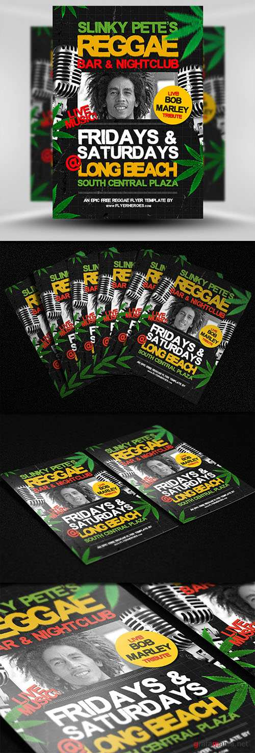 Reggae Party Flyer/Poster PSD Template