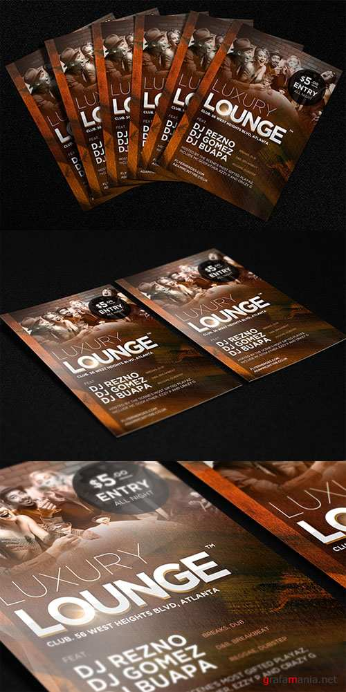 Luxury Lounge Party Flyer/Poster PSD Template