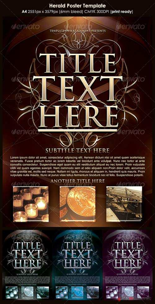 GraphicRiver Herald Poster Template