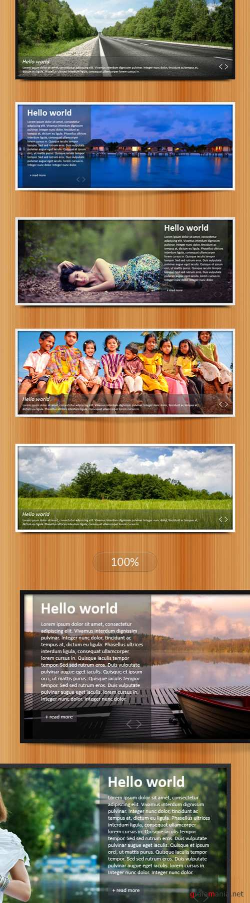 Simple and Clean Web Sliders PSD Template