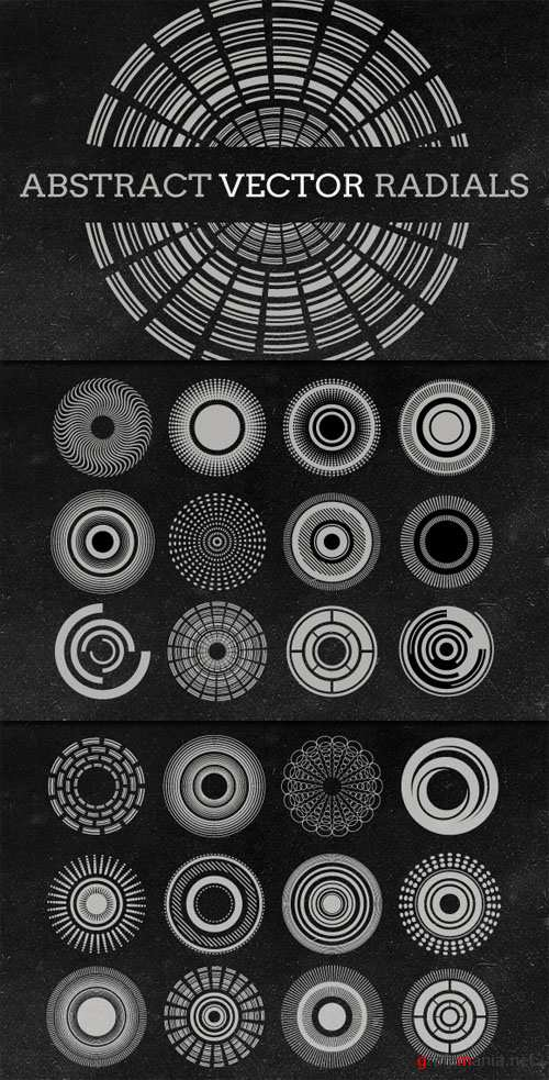 WeGraphics - Abstract Vector Radials Collection