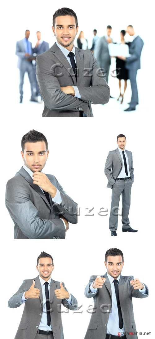Бизнесмен на белом фоне/ Businessman on white  background - Stock photo
