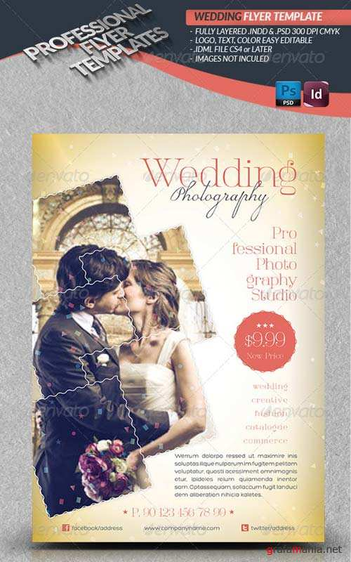 GraphicRiver Wedding Photography Flyer Template