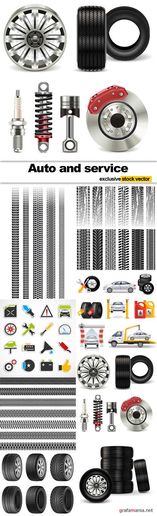 Auto and Service - Vector Stock