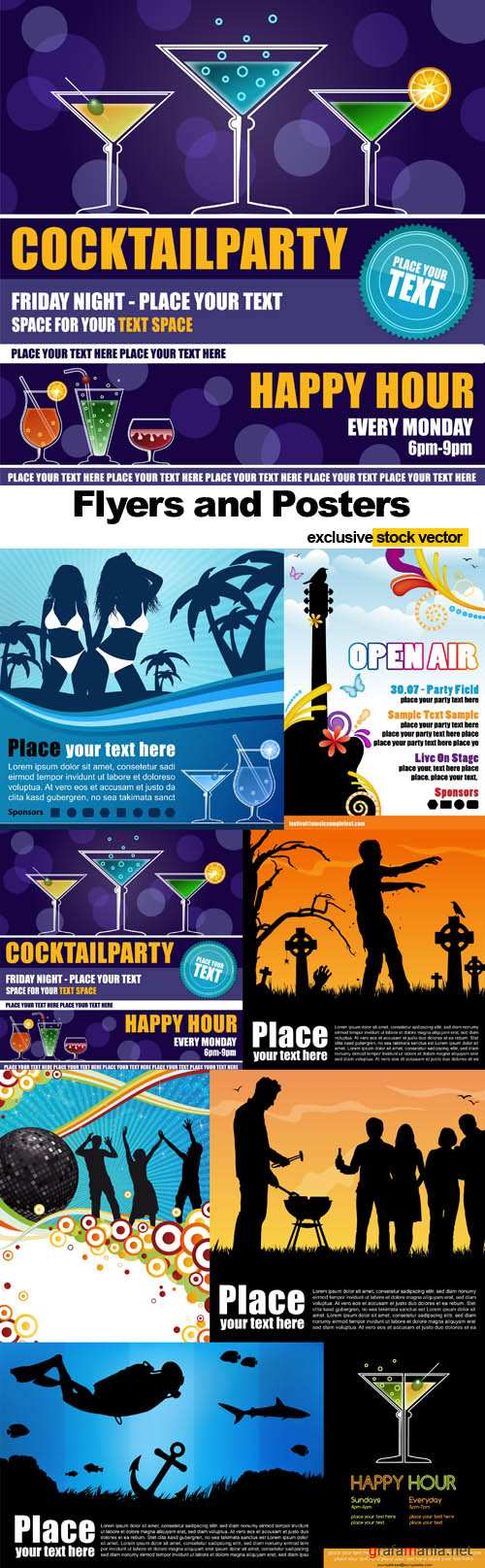 Flyers and Posters - Vector Stock