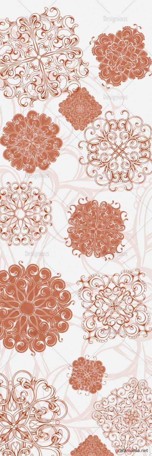 Floral Brushes Set 52