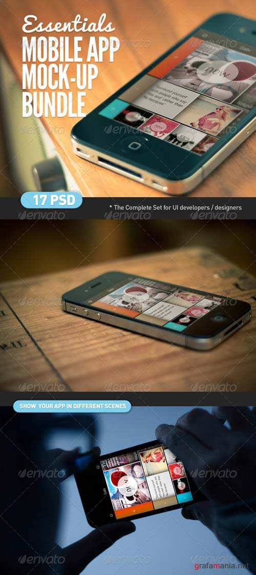 GraphicRiver Mobile App | Screen Mock-Up Essentials Bundle