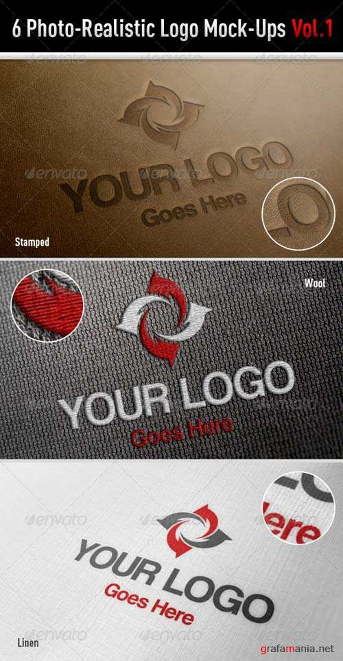 GraphicRiver 6 Photo-Realistic Logo Mock-Ups Vol.1