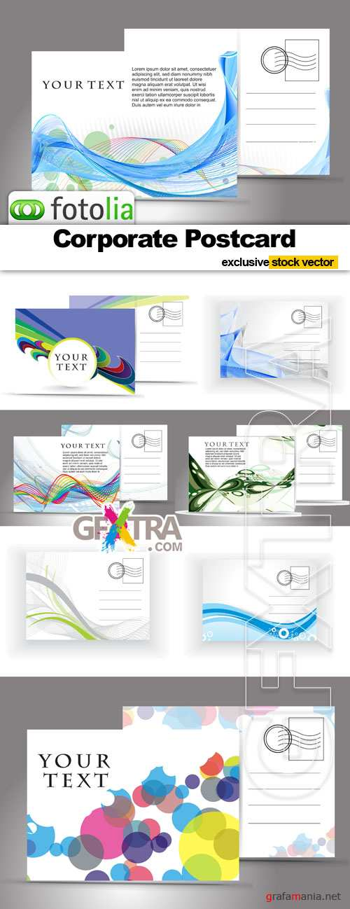 Corporate Postcard - Vector Stock