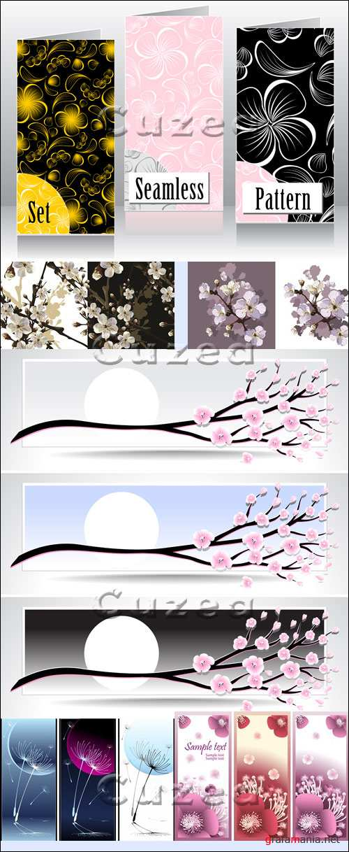 Цветочные баннеры в векторе/ Flower banners in vector
