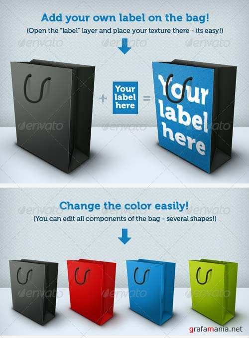 GraphicRiver Shopping-Bag With Own Label - Scalable!