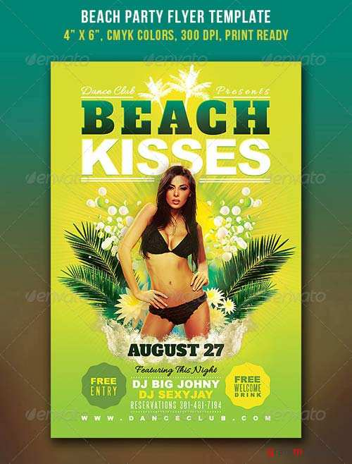 GraphicRiver Beach Party Flyer 4310539