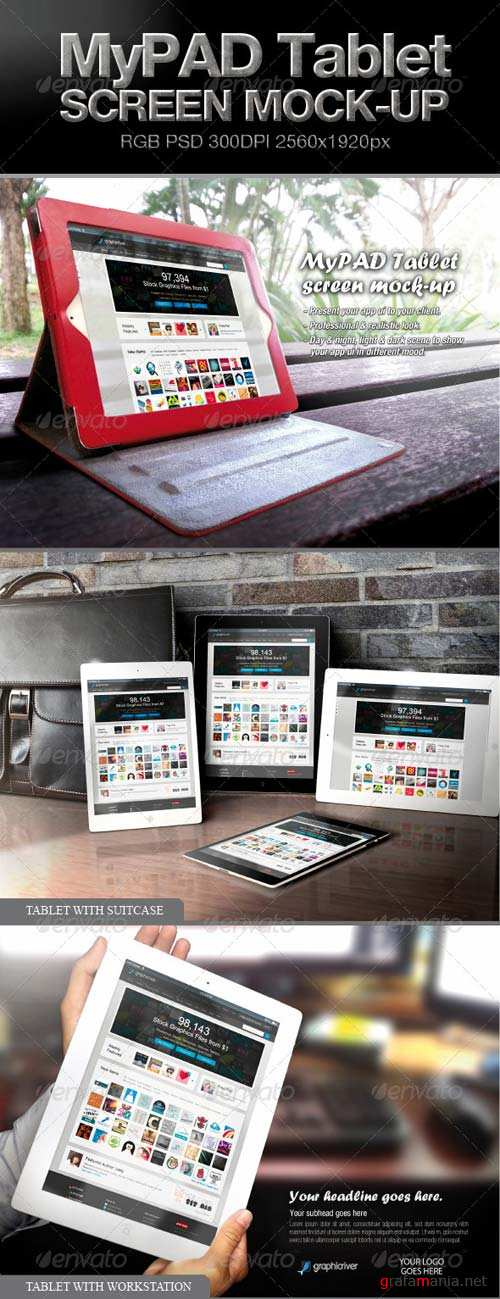 GraphicRiver MyPAD Tablet Screen Mock-up