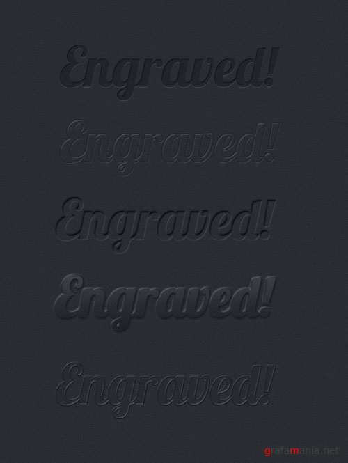 Designtnt - Engraved Text Effects and Styles for Photoshop