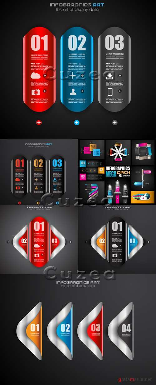 Инфографика, часть 29/ Infographics design template with numeration, part 29
