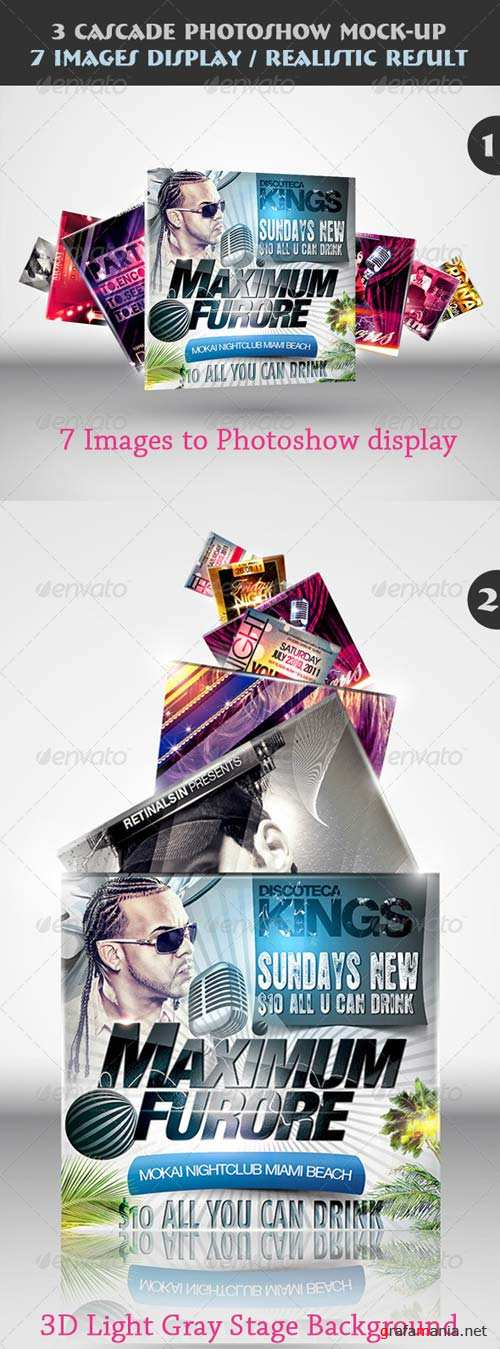 GraphicRiver 3 Cascade Photoshow Mock-up
