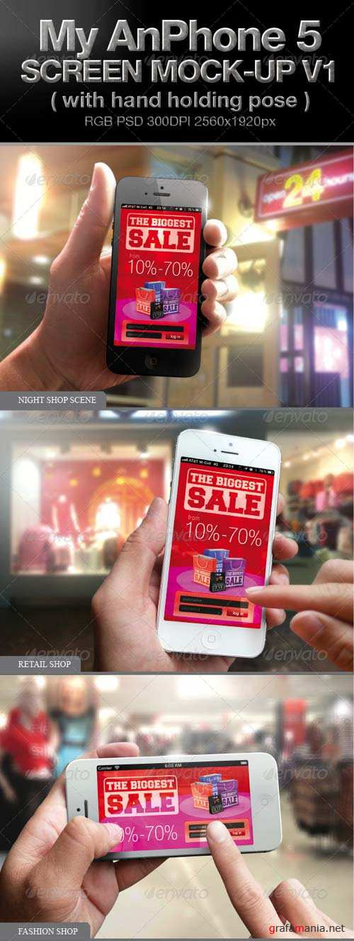 GraphicRiver Iphone 5 screen Mock-up V1
