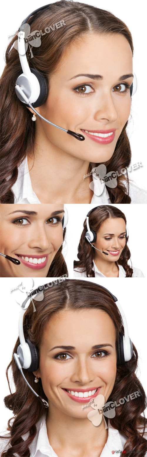 Phone operator with headset 0403