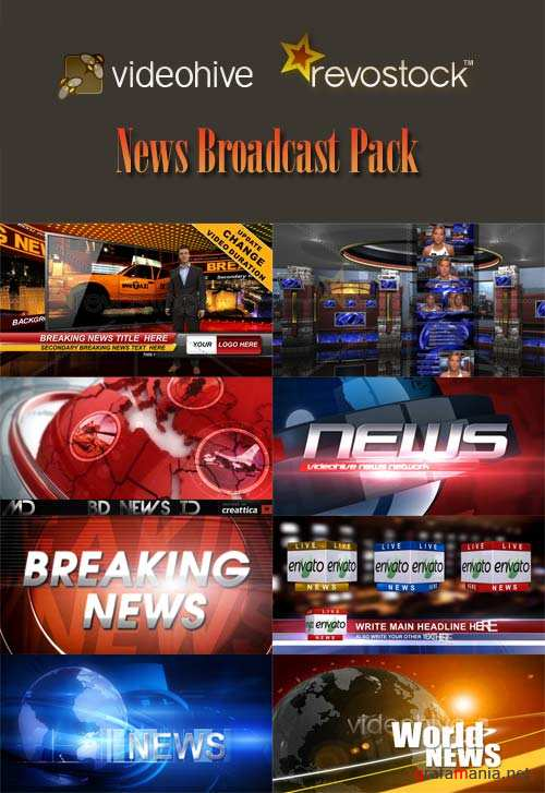 News Broadcast Pack - Projects for After Effects (Videohive and RevoStock)