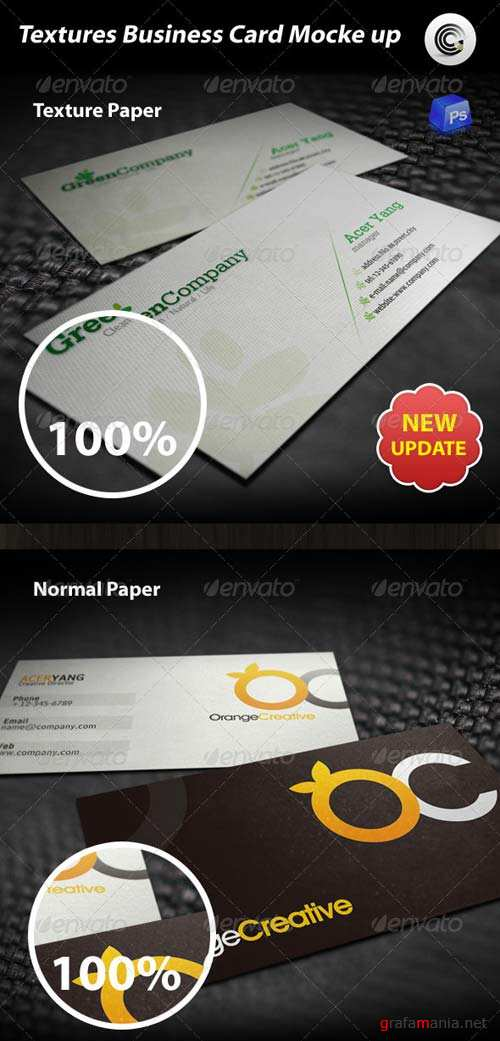 GraphicRiver Textures Business Card Mock-up