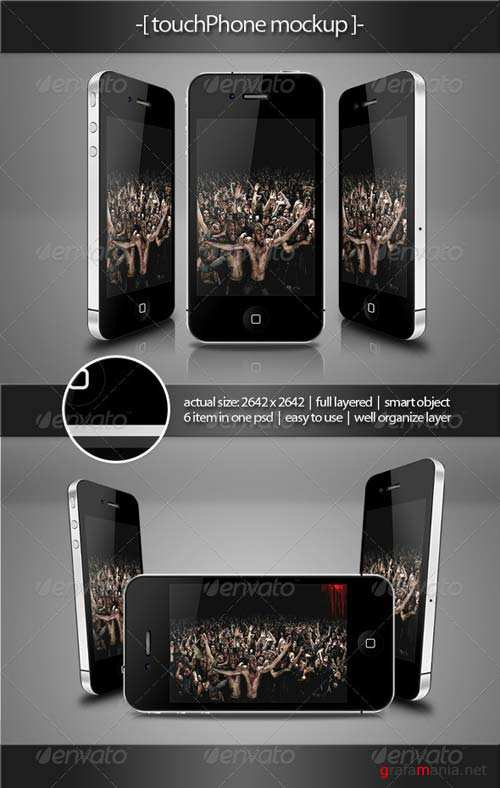 GraphicRiver Touch Phone Mockup